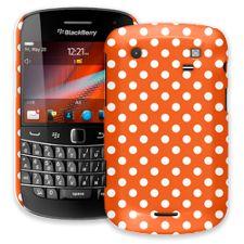 White Polka Dot on Tangerine BlackBerry 9900/9930 Bold ColorStrong Slim-Pro Case