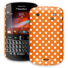 White Polka Dot on Orange BlackBerry 9900/9930 Bold ColorStrong Slim-Pro Case