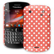 White Polka Dot on Terracotta BlackBerry 9900/9930 Bold ColorStrong Slim-Pro Case
