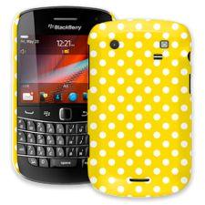 White Polka Dot on Sunshine BlackBerry 9900/9930 Bold ColorStrong Slim-Pro Case