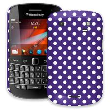 White Polka Dot on Deep Purple BlackBerry 9900/9930 Bold ColorStrong Slim-Pro Case