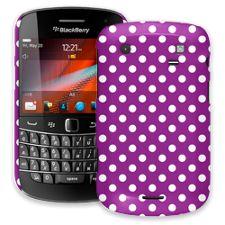 White Polka Dot on Purple BlackBerry 9900/9930 Bold ColorStrong Slim-Pro Case