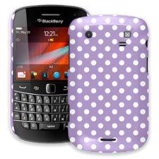 White Polka Dot on Lavender BlackBerry 9900/9930 Bold ColorStrong Slim-Pro Case