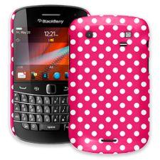 White Polka Dot on Raspberry BlackBerry 9900/9930 Bold ColorStrong Slim-Pro Case