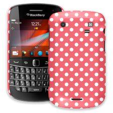 White Polka Dot on Coral BlackBerry 9900/9930 Bold ColorStrong Slim-Pro Case