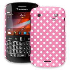 White Polka Dot on Bubblegum BlackBerry 9900/9930 Bold ColorStrong Slim-Pro Case
