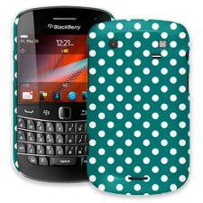 White Polka Dot on Ocean Teal BlackBerry 9900/9930 Bold ColorStrong Slim-Pro Case