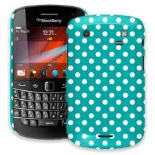 White Polka Dot on Turquoise BlackBerry 9900/9930 Bold ColorStrong Slim-Pro Case