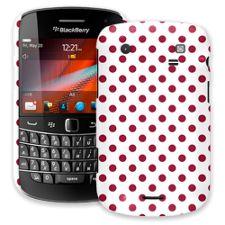 Crimson Polka Dot on White BlackBerry 9900/9930 Bold ColorStrong Slim-Pro Case