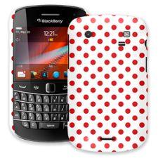 Red Polka Dot on White BlackBerry 9900/9930 Bold ColorStrong Slim-Pro Case