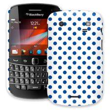 Royal Blue Polka Dot on White BlackBerry 9900/9930 Bold ColorStrong Slim-Pro Case