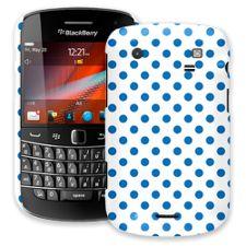 Blue Polka Dot on White BlackBerry 9900/9930 Bold ColorStrong Slim-Pro Case