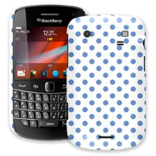 Periwinkle Polka Dot on White BlackBerry 9900/9930 Bold ColorStrong Slim-Pro Case