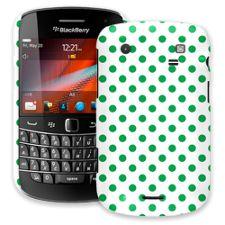 Emerald Polka Dot on White BlackBerry 9900/9930 Bold ColorStrong Slim-Pro Case