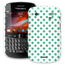 Teal Green Polka Dot on White BlackBerry 9900/9930 Bold ColorStrong Slim-Pro Case