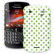 Lime Polka Dot on White BlackBerry 9900/9930 Bold ColorStrong Slim-Pro Case