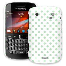 Spring Green Polka Dot on White BlackBerry 9900/9930 Bold ColorStrong Slim-Pro Case