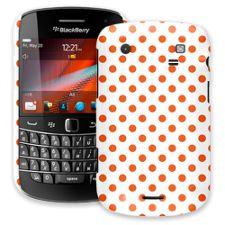 Tangerine Polka Dot on White BlackBerry 9900/9930 Bold ColorStrong Slim-Pro Case