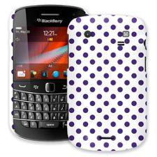 Deep Purple Polka Dot on White BlackBerry 9900/9930 Bold ColorStrong Slim-Pro Case