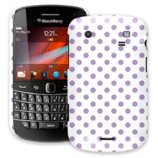 Lavender Polka Dot on White BlackBerry 9900/9930 Bold ColorStrong Slim-Pro Case