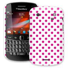 Hot Pink Polka Dot on White BlackBerry 9900/9930 Bold ColorStrong Slim-Pro Case