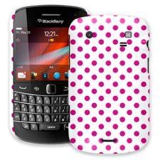 Fuchsia Polka Dot on White BlackBerry 9900/9930 Bold ColorStrong Slim-Pro Case
