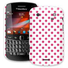 Raspberry Polka Dot on White BlackBerry 9900/9930 Bold ColorStrong Slim-Pro Case