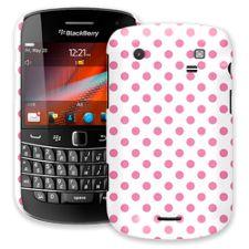 Bubblegum Polka Dot on White BlackBerry 9900/9930 Bold ColorStrong Slim-Pro Case