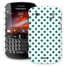 Ocean Teal Polka Dot on White BlackBerry 9900/9930 Bold ColorStrong Slim-Pro Case