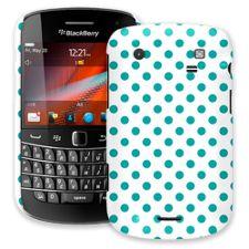 Turquoise Polka Dot on White BlackBerry 9900/9930 Bold ColorStrong Slim-Pro Case