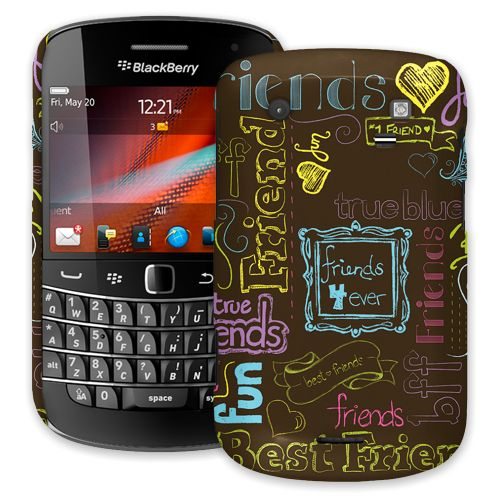 Friends Neon BlackBerry 9900/9930 Bold ColorStrong Slim-Pro Case