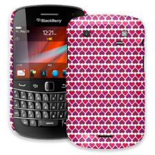 Hearts White BlackBerry 9900/9930 Bold ColorStrong Slim-Pro Case