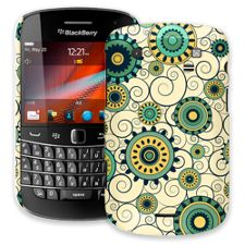 Swirls Yellow BlackBerry 9900/9930 Bold ColorStrong Slim-Pro Case