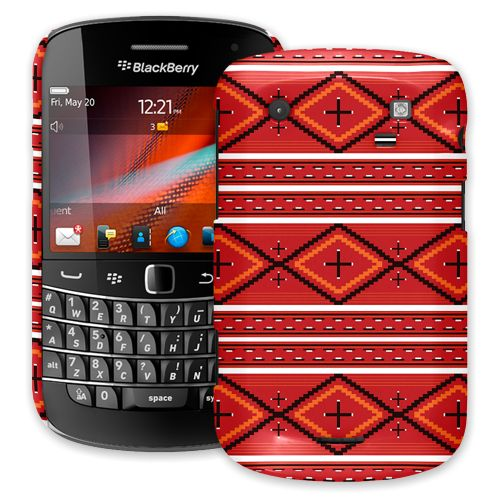 Red and White Tribal BlackBerry 9900/9930 Bold ColorStrong Slim-Pro Case