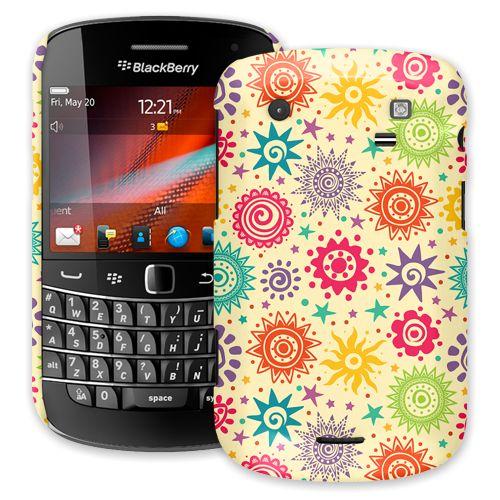 Tribal Sun Pattern BlackBerry 9900/9930 Bold ColorStrong Slim-Pro Case