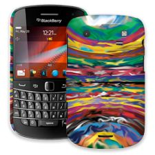 Psychedelic Paint Swirls BlackBerry 9900/9930 Bold ColorStrong Slim-Pro Case