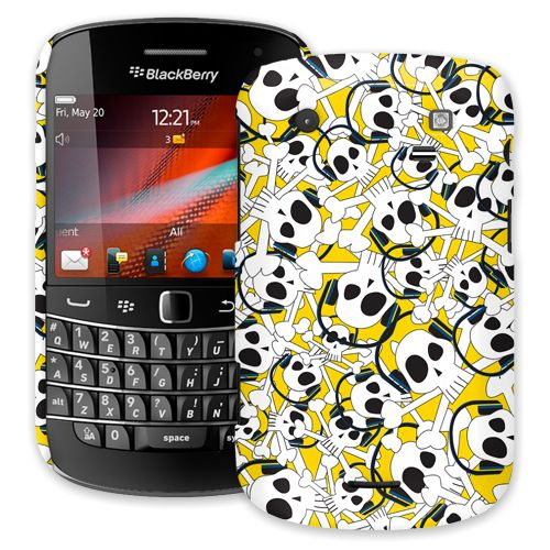 Skull Prince with Beats on Yellow BlackBerry 9900/9930 Bold ColorStrong Slim-Pro Case
