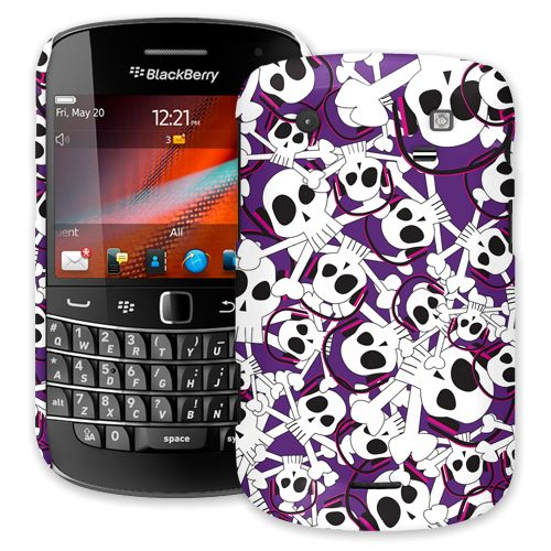 Skull Prince with Beats on Purple BlackBerry 9900/9930 Bold ColorStrong Slim-Pro Case