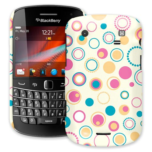 Retro Pink and Blue BlackBerry 9900/9930 Bold ColorStrong Slim-Pro Case