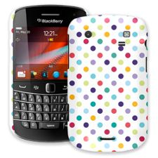 Polka Dot Explosion on White BlackBerry 9900/9930 Bold ColorStrong Slim-Pro Case