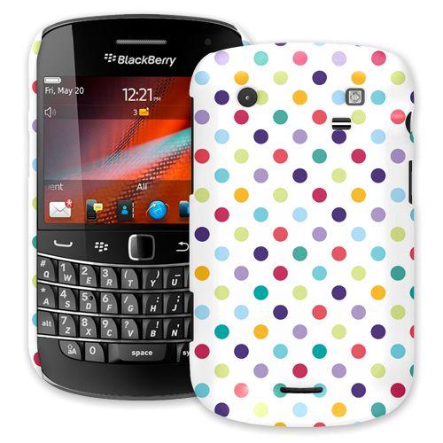 Polka Dot Explosion on White BlackBerry 9900/9930 Bold ColorStrong Slim-Pro Case