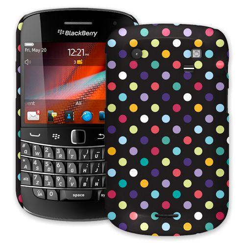Polka Dot Explosion on Black BlackBerry 9900/9930 Bold ColorStrong Slim-Pro Case