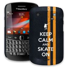 Keep Calm and Skate On BlackBerry 9900/9930 Bold ColorStrong Slim-Pro Case