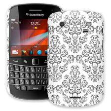 Dainty Black and White Damask BlackBerry 9900/9930 Bold ColorStrong Slim-Pro Case