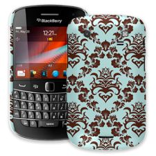 Classic Brown and Blue Damask BlackBerry 9900/9930 Bold ColorStrong Slim-Pro Case