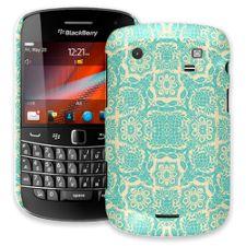 Blue on Cream Floral Damask BlackBerry 9900/9930 Bold ColorStrong Slim-Pro Case