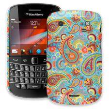 Aqua Blue and Sunshine Paisley BlackBerry 9900/9930 Bold ColorStrong Slim-Pro Case