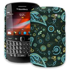Turquoise Paisley BlackBerry 9900/9930 Bold ColorStrong Slim-Pro Case
