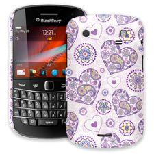 Purple Heart Paisley BlackBerry 9900/9930 Bold ColorStrong Slim-Pro Case