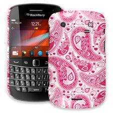 Red Heart Bandana Paisley BlackBerry 9900/9930 Bold ColorStrong Slim-Pro Case